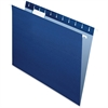 "Pendaflex Essentials Color Hanging Folders - Letter - 8 1/2"" x 11"" Sheet Size - 1/5 Tab Cut - Navy Blue - 25 / Box"