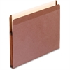 "Pendaflex Recycled Vertical File Pocket - Letter - 8 1/2"" x 11"" Sheet Size - 1 3/4"" Expansion - Red Fiber - Red Fiber - 10 / Box"