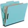 "Pendaflex Pressboard Partition Folder - Letter - 8 1/2"" x 11"" Sheet Size - 1"" Expansion - 2 Fastener(s) - 1 Divider(s) - 25 pt. Folder Thickness - Pressboard - Blue, Gray - 10 / Box"