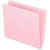 "Pendaflex End Tab File Folder - Letter - 8 1/2"" x 11"" Sheet Size - 3/4"" Expansion - 11 pt. Folder Thickness - Pink - 100 / Box"