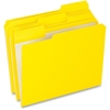 "Pendaflex Top File Folder - Letter - 8 1/2"" x 11"" Sheet Size - 1/3 Tab Cut - 11 pt. Folder Thickness - Yellow - 100 / Box"