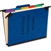 "Pendaflex Hanging Style Personnel Folder - 9 1/2"" x 11 3/4"" Sheet Size - 2"" Expansion - 1"" Fastener Capacity for Folder - 1/3 Tab Cut - 5 Divider(s) - 20 pt. Folder Thickness - Pressguard - Blue - 1 E"