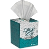 "Georgia-Pacific Angel Soft ps Facial Tissue Box - 2 Ply - 8.80"" x 7.60"" - White - Soft, Absorbent - 96 Sheets Per Box - 3456 / Carton"