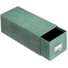"Globe-Weis Index Card Storage Case - Internal Dimensions: 6"" Width x 14.50"" Depth x 4"" Height - Heavy Duty - Fiberboard - Green - For Card - 1 Each"