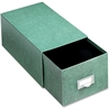 "Globe-Weis Heavy duty Index Card Storage Drawer - Internal Dimensions: 8"" Width x 5"" HeightExternal Dimensions: 14.5"" Depth - Heavy Duty - Fiberboard - Green - For Card - 1 Each"