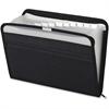 "Pendaflex Fabric Zip File - 10"" x 14"" Sheet Size - 13 Internal Pocket(s) - Fabric - Black - 1 Each"