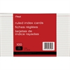 "Mead 90 lb Stock Index Cards - Ruled Red Margin - 90 lb Basis Weight - 5"" x 8"" - White Paper - 100 / Pack"