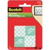 "Scotch Permanent Mounting Squares - 1"" Width x 1"" Length - Foam - Permanent Adhesive Backing - Double-sided, Permanent Mounting - 16 / Pack - White"