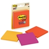 "Post-it Post-it Super Sticky Notes, 3 in x 3 in, Marrakesh Color Collection - 135 - 3"" x 3"" - Square - 45 Sheets per Pad - Unruled - Assorted - Paper - Self-adhesive - 3 Pad"