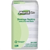 "Marcal Beverage Napkin - 1 Ply - 9.25"" x 9.50"" - White - Perforated, Recyclable - For Beverage - 4000 / Carton"
