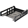 "OIC Front Loading Letter Tray - 12.5"" Height x 10.5"" Width x 2.9"" Depth - Desktop - Black - 1Each"