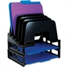 "OIC Incline Sorter With Two Trays - 5 Compartment(s) - 14"" Height x 9.1"" Width x 13.5"" Depth - Desktop - Black - 1 / Pack"