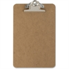 "OIC Wood Clipboard - 1"" Clip Capacity - 6"" x 9"" - Clamp - Hardboard - Brown"