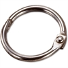 "OIC Looseleaf Book Rings - 0.8"" Diameter - Silver - Metal - 100 / Box"