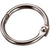 "OIC Looseleaf Book Rings - 0.8"" Diameter - Silver - Metal - 100 / Box"