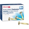 "OIC Brass Plated Roundhead Fasteners - 1"" Shank - 100 Pack - Brass - Brass"