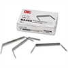 "OIC Prong Fastener Base - Standard - 1"" Size Capacity - 100 Pack - Silver - Steel"