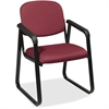"Office Star V4410 Deluxe Sled Base Arm Chair - Cabernet Seat - Black Frame - Sled Base - Burgundy - 19"" Seat Width x 18"" Seat Depth - 23"" Width x 25"" Depth x 32.5"" Height"