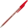Better Ball Stick Pen - Medium Point Type - 1 mm Point Size - Refillable - Red - Crystal Barrel - 1 Each