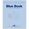 "Roaring Spring Blue Exam/Testing Booklet - 16 Pages - Printed - Stapled/Glued 7"" x 8.50"" - Blue Cover - 50 / Pack"