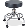 "Safco Screw Lift Lab Stool with Low Base - 250 lb Load Capacity - 25"" - Black"