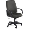 "Safco Poise Collection Executive High-Back Chair - Polyester Black Seat - Black Frame - 5-star Base - 21"" Seat Width x 20"" Seat Depth - 27"" Width x 27"" Depth x 46"" Height"