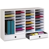 """Safco 32 Compartments Adjustable Literature Organizer - 32 Compartment(s) - 2 Drawer(s) - Compartment Size 2.50"""" x 9.50"""" x 11.50"""" - Drawer Size 2.75"""" x 17.50"""" - 25.4"""" Height x 39.4"""" Width x 11.8"""" Dept"""