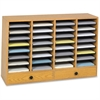 "Safco 32 Compartments Adjustable Literature Organizer - 32 Compartment(s) - 2 Drawer(s) - Compartment Size 2.50"" x 9.50"" x 11.50"" - Drawer Size 2.75"" x 17.50"" - 25.3"" Height x 39.3"" Width x 11.8"" Dept"