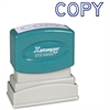 "Xstamper Pre-Inked Stamp - Message Stamp - ""COPY"" - 0.50"" Impression Width x 1.63"" Impression Length - 100000 Impression(s) - Blue - Recycled - 1 Each"