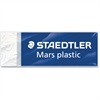 "Staedtler Mars Eraser - Lead Pencil Eraser - Latex-free, Non-smudge, Smear Resistant, Tear Resistant - Plastic - 0.5"" Height x 2.5"" Width x 0.9"" Depth - 1Each - White"