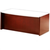 "Mayline Corsica Reception Desk Base - 72"" x 36"" x 29.5"" - Beveled Edge - Material: Veneer, Wood - Finish: Cherry, Sierra Cherry"