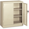 "Tennsco Counter-High Storage Cabinet - 36"" x 18"" x 42"" - 2 x Door(s) - Security Lock - Putty - Recycled"