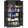 "Full-Height Standard Storage Cabinet - 36"" x 18"" x 72"" - 2 x Door(s) - Security Lock, Welded, Reinforced, Hinged Door - Black - Chrome - Recycled"