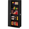 "Tennsco Full-Height Deluxe Storage Cabinet - 36"" x 24"" x 78"" - 2 x Door(s) - Security Lock, Leveling Glide - Black - Powder Coated - Steel - Recycled"