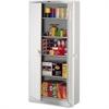 "Tennsco Full-Height Deluxe Storage Cabinet - 36"" x 24"" x 78"" - 2 x Door(s) - Security Lock, Leveling Glide - Light Gray - Powder Coated - Steel - Recycled"