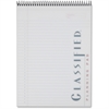"""TOPS Classified Docket Gold Planning Pad - 70 Sheets - Printed - Spiral - 20 lb Basis Weight - 8.50"""" x 11.75"""" - White Paper - Chipboard Cover - 1Each"""