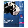 Avery CD/DVD Label(s) - Permanent Adhesive Length - 2 / Sheet - Circle - Laser - Clear - 40 / Pack