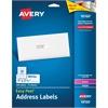 """Avery White Easy Peel Address Labels - 1"""" Width x 2.62"""" Length - Inkjet, Laser - White - 300 / Pack"""