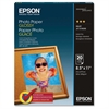 "Epson Inkjet Print Photo Paper - Letter - 8.50"" x 11"" - 52 lb Basis Weight - Glossy - 92 Brightness - 20 / Pack - White"