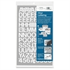 "Chartpak Vinyl Helvetica Style Letters/Numbers - 12 Numbers, 82 Capital Letters - Self-adhesive - Easy to Use - 0.75"" Height - White - Vinyl - 1 / Pack"