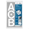 "Chartpak Vinyl Helvetica Style Letters/Numbers - 50 Capital Letters - Self-adhesive - Easy to Use - 3"" Height - White - Vinyl - 1 / Pack"