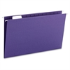 """Colored Hanging Folders with Tabs - Legal - 8 1/2"""" x 14"""" Sheet Size - 1/5 Tab Cut - Assorted Position Tab Location - Purple - Recycled - 25 / Box"""