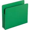 "Smead Poly File Pockets - Letter - 8 1/2"" x 11"" Sheet Size - 3 1/2"" Expansion - Polypropylene - Green - 4 / Box"