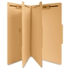 "Sparco 6-part Manila Classification Folders - Legal - 8 1/2"" x 14"" Sheet Size - 2"" Expansion - 2"" Fastener Capacity for Folder, 2"" Fastener Capacity for Divider - 6 Divider(s) - 15 pt. Folder Thicknes"