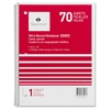 "Quality Wirebound 1-Subject Notebook - 70 Sheets - Printed - Wire Bound - 16 lb Basis Weight 8"" x 10.50"" - Assorted Paper - Assorted Cover - Chipboard Cover - 1Each"