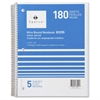 "Quality Wirebound 5-Subject Notebook - 180 Sheets - Printed - Wire Bound 8"" x 10.50"" - Assorted Paper - Assorted Cover - Chipboard Cover - 1Each"