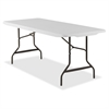 "Lorell Ultra Light Banquet Table - Rectangle Top - 30"" Table Top Length x 72"" Table Top Width - 29"" Height - Platinum, Powder Coated"