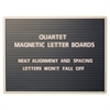 "Quartet® Magnetic Letter Board Sign, 24"" x 18"", Horizontal Ridges, Easy Mounting - 18"" Height x 24"" Width - Black Surface - Gray Frame - 1 / Each"