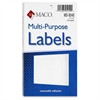 "MACO White Multi-Purpose Labels - 5"" Width x 3"" Length - Rectangle - White - 40 / Pack"