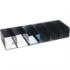"MMF Counter Check Separator - 4"" Height x 4"" Width x 24.3"" Depth - Recycled - Black - Steel - 1Each"